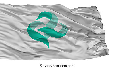 Kai City Flag, Japan, Yamanashi Prefecture, Isolated On ...