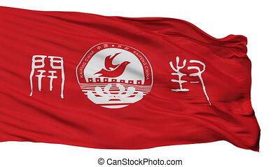 kaifeng, miasto, bandera, porcelana, odizolowany