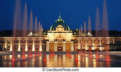 Kaiserpalais. - The evening view to the Kaiserpalais with a...