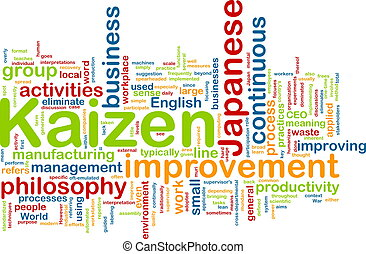 kaizen, palabra, nube