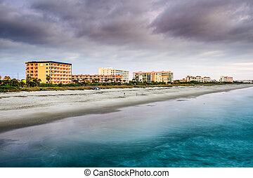 kakaó, tengerpart, florida