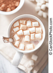 kakao, hos, mini, marshmallows