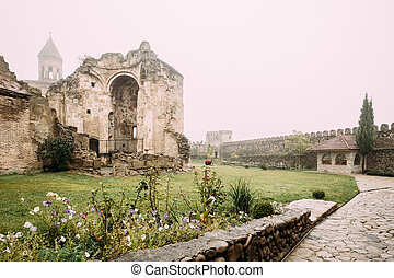kakheti, nino, monastère, georgia., région, sagarejo.,...