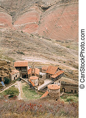 Kakheti Region, Georgia. Ancient Rock-hewn Georgian Orthodox...