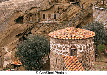Kakheti Region, Georgia. Old Tower In Ancient Rock-hewn...