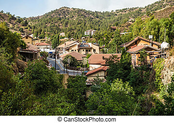 kakopetria, 著名, touristic, 村莊, 在, the, 北方, 邊, ......的, the, troodos, 山, range., nicosia, district., 塞浦路斯