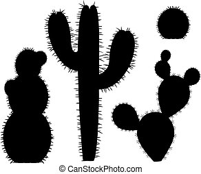 kaktus, silhouette-vector