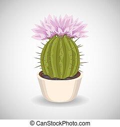 March Rumours Kaktus-z-pi%C4%99kny-r%C3%B3%C5%BCowe-kwiecie-wektory-eps_csp41606647