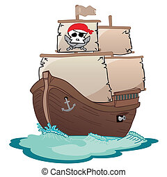 kalóz, vitorlás hajó