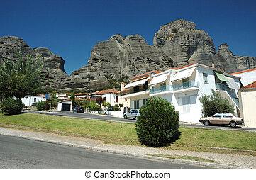 Kalabaka's suburb village of Kastraki, Meteora,Greece