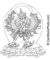 Kalachakra Buddhist Deity - Kalachakra, the wheel of time.