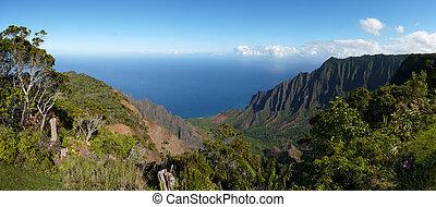 kalalau, kauai, vallei, hawaii