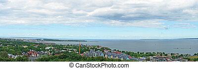 Kalamaja microdistrict in Tallinn. Panorama view.