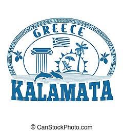 Kalamata, Greece stamp or label