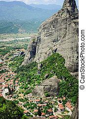 Kalambaka town view from Meteora rocks, Greece - Kalambaka ...
