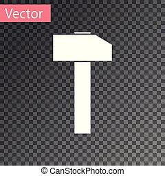kalapács, szerszám, elszigetelt, ábra, háttér., vektor, fehér, repair., áttetsző, ikon