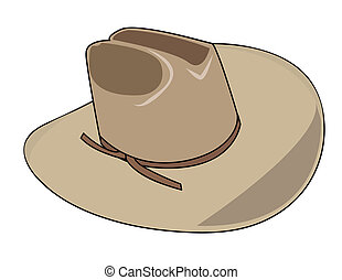 kalap, ábra, cowboy