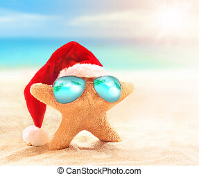 kalap, napszemüveg, szent, tengeri csillag