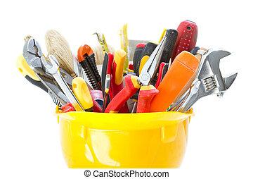 kalap, szerkesztés, nehéz, eszközök