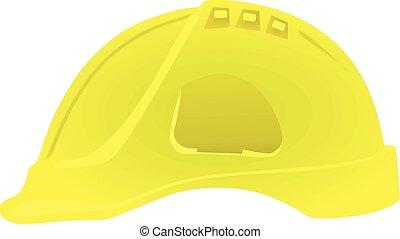 kalap, vektor, nehéz, sárga, ábra