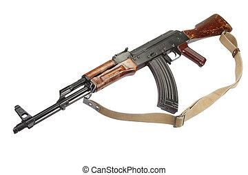 Kalashnikov AKM isolated on white