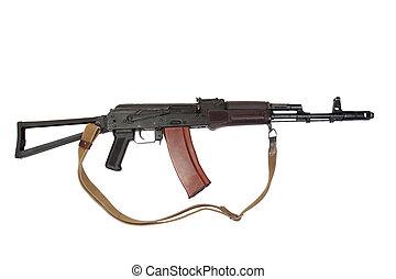 kalashnikov assault rifle ak isolated on a white background