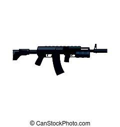 Kalashnikov assault rifle. Military weapon vector Illustration