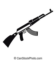 Kalashnikov machine icon, simple style