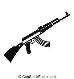 Kalashnikov machine icon, simple style