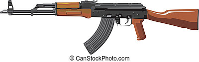 assault rifle - Kalashnikov modernized assault rifle AKM