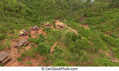 kalaw, mniejszość, myanmar, stan, domy, shan, krajowiec