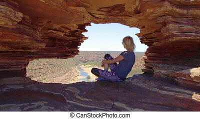 Kalbarri lookout woman