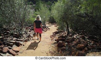 Kalbarri woman outdoor activities - Woman in Australian...