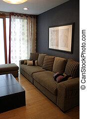 kald, interiors, -, rum, hjem