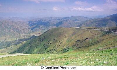Kaldama pass, 3062 m , Mountain road district of Jalal-Abad...