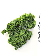 Kale - fresh green kale on a white background