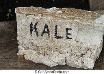 Kale handmade garden sign