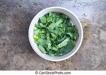 kale vegetable (Chinese Broccoli )