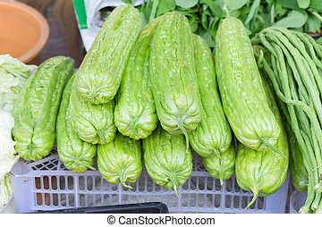 kalebassen, verse grostes, markt
