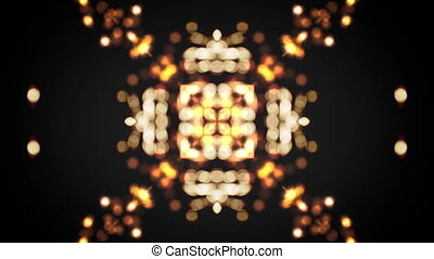 kaleidoscop bokeh gold flare