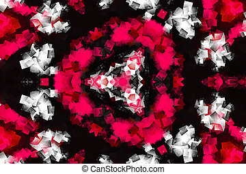 Pink and white Flower leaf Abstract Computer generated Fractal design. Fractals are infinitely complex patterns that are self-similar across different scales. Great for cell phone wall paper