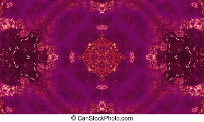 Kaleidoscope abstract rust colored - Looping kaleidoscope...