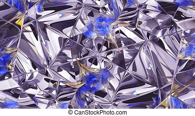 kaleidoscope abstraction rotating sparkling shiny glass ...