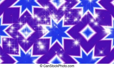 Kaleidoscope and Sparkles HD Loop - HD Loop. Purple Blue...