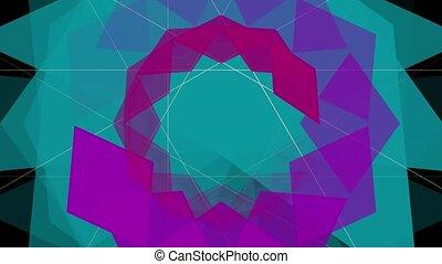 Kaleidoscope animation - Kaleidoscope sequence patterns...