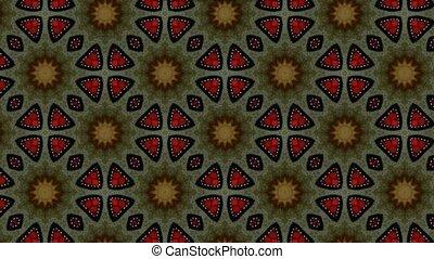 Beautiful changing patterns background kaleidoscope.
