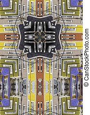 kaleidoscope cross: row houses