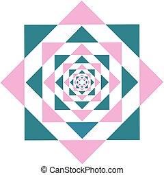 Kaleidoscope Flower Triangle