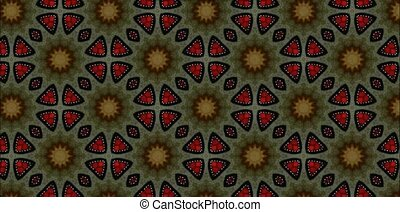 Kaleidoscope - Beautiful changing patterns background...