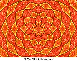 Kaleidoscope - macro kaleidoscope image of a Maple leaf